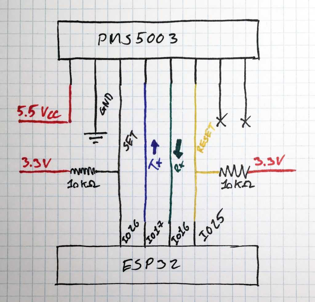 ESP32, PMS5003, BME280, MICS6814 Sensor Build - K  Stobbe