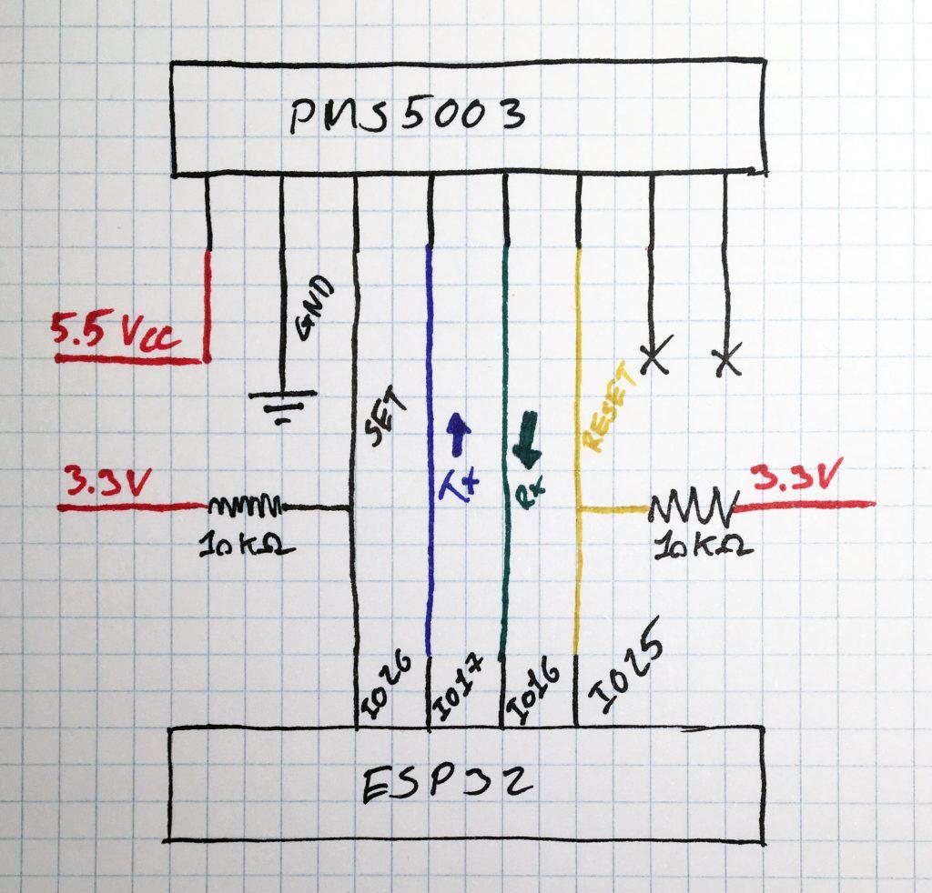 PMS5003 ESP32 wiring diagram